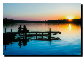 Anibal-Affiliates-RealtyNetWorth-LakeShannon-why-I-sell-lakefront-young-couple-at-sunset